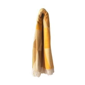 Żółty koc z dodatkiem bawełny Euromant Pisa, 140x180cm