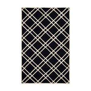Dywan wełniany Mati Black, 121x182 cm