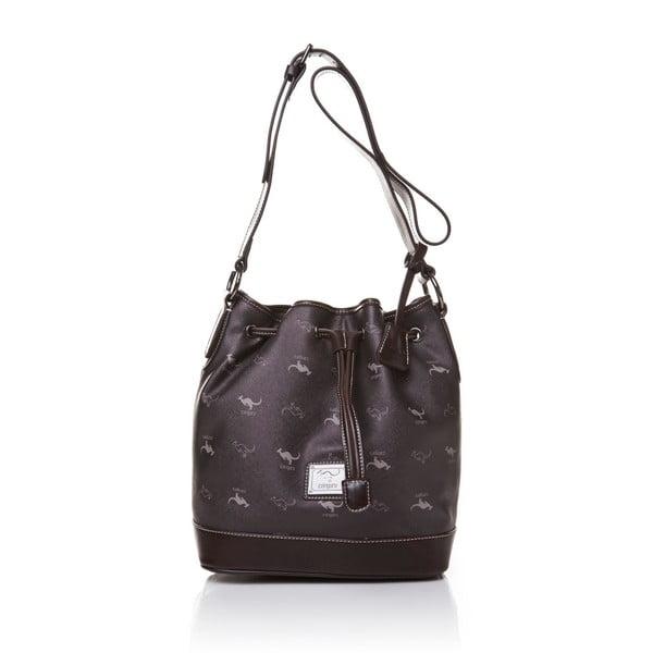 Skórzana torebka Canguru Bucket, brązowa