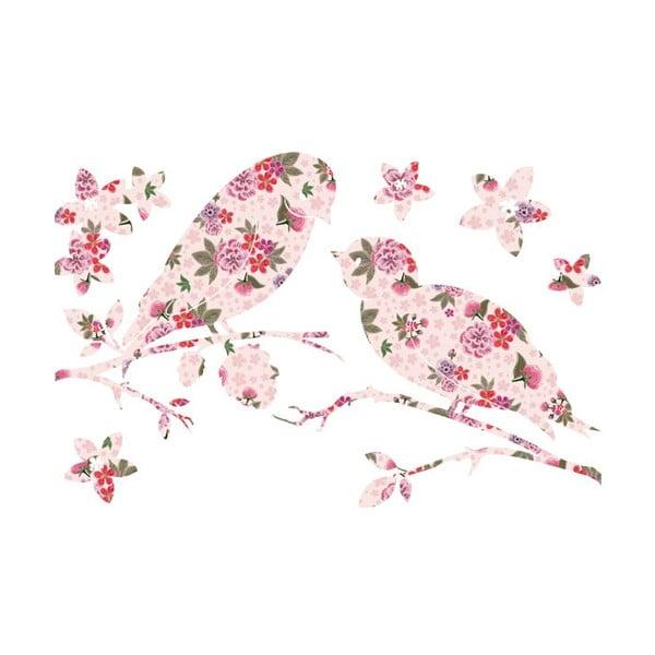 Naklejka na ścianę Rose Birds, 20x30 cm