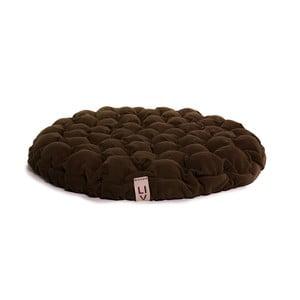 Ciemnobrązowa poduszka do siedzenia wypełniona piłeczkami do masażu Linda Vrňáková Bloom, Ø 75 cm
