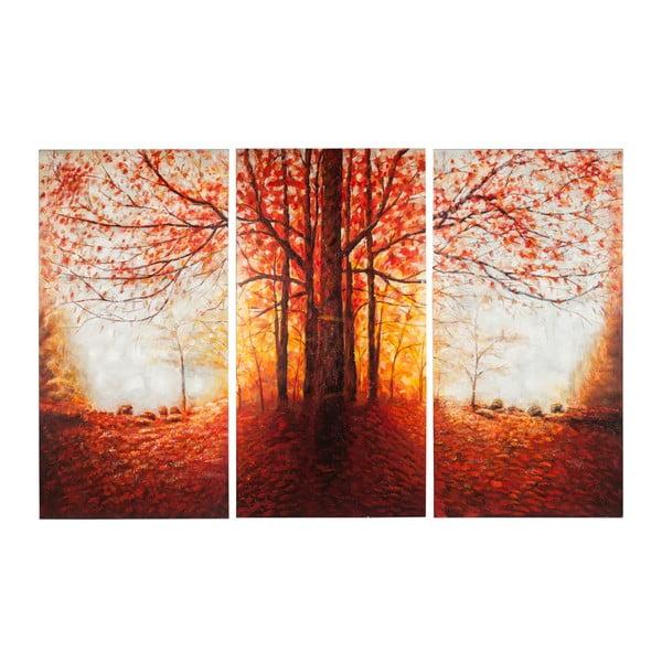 Ręcznie malowany obraz J-Line Tree Autumn, 50x100 cm