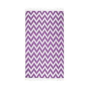 Fioletowy ręcznik hammam Kate Louise Laila, 165x100cm
