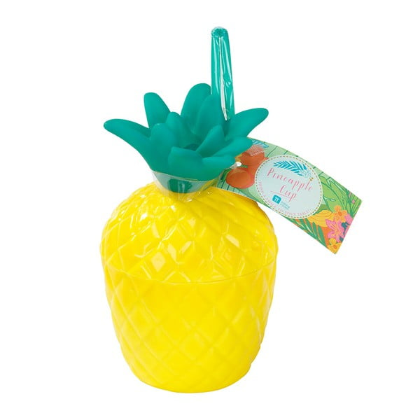 Kubek plastikowy Talking Tables Fiesta Pineapple