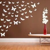 Naklejka ścienna Raj motylów, biel