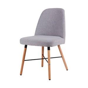 Šedá jídelní židle s podnožím z bukového dřeva sømcasa Kalia