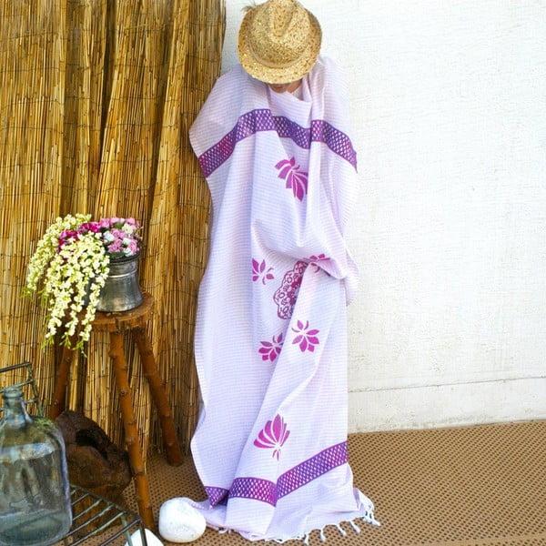 Ręcznik hamam Striped Pink, 90x180 cm