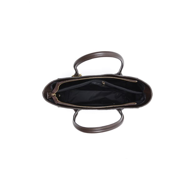 Skórzana torebka Cuco, brązowa