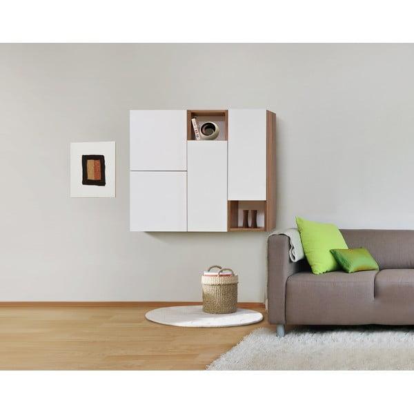Półki ścienne Decoflex Book, białe/samba