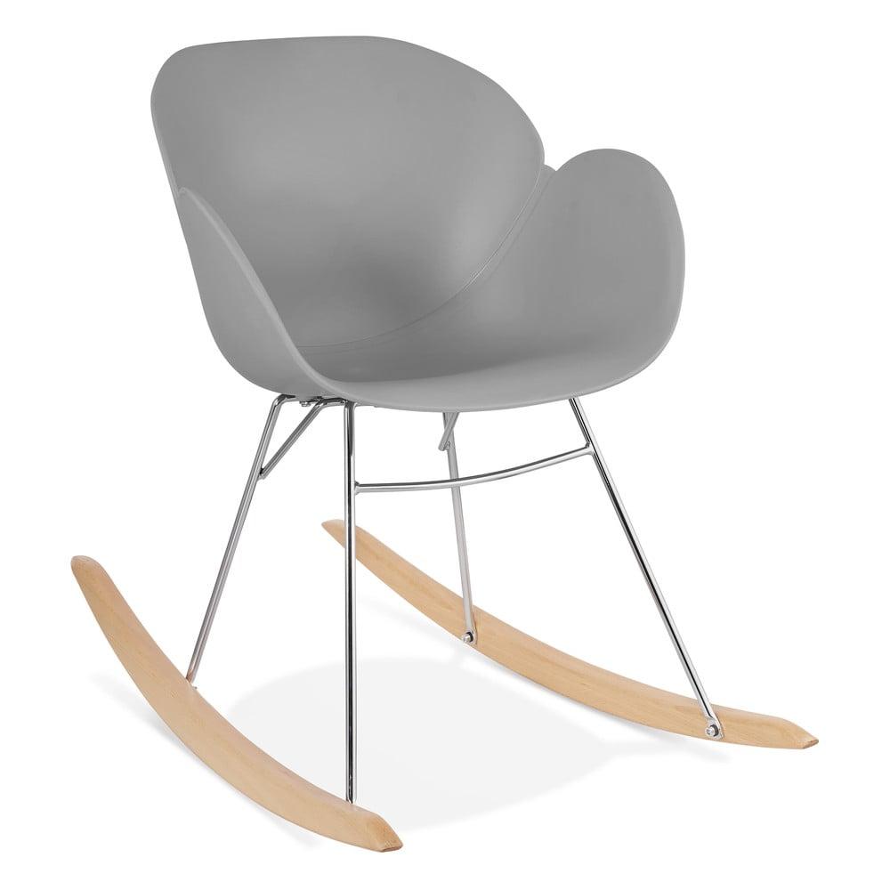 Szary fotel bujany Kokoon Knebel