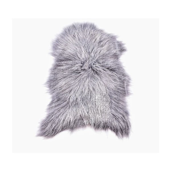 Skóra owcza z długim włosiem Grey, 100x60 cm