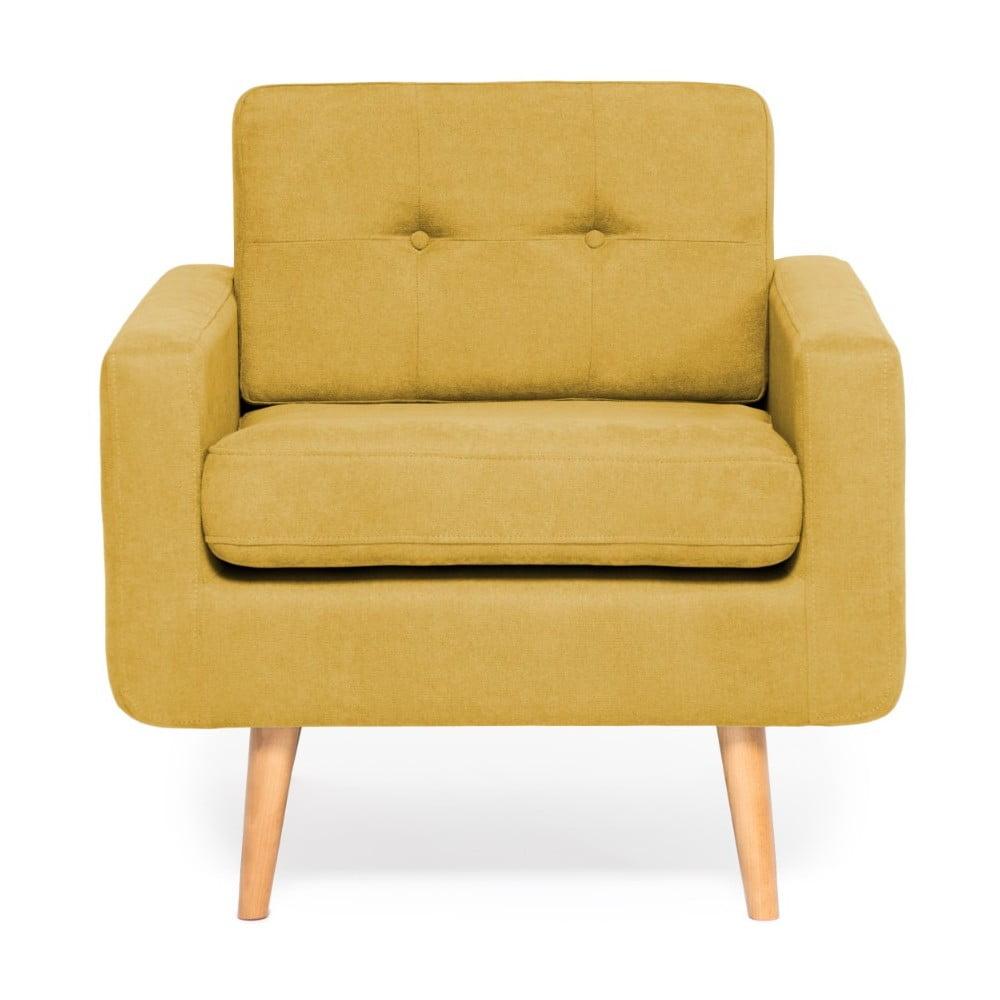 Żółty fotel Vivonita Ina