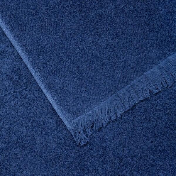 Zestaw 2 niebieskich ręczników bawełnianych i 2 ręczników kąpielowych Casa Di Bassi Bath