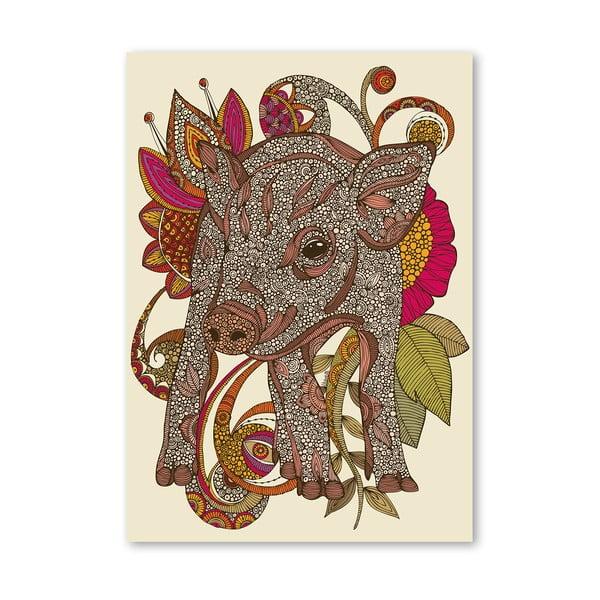 "Plakat ""Paisley Piggy"", Valentina Ramos"