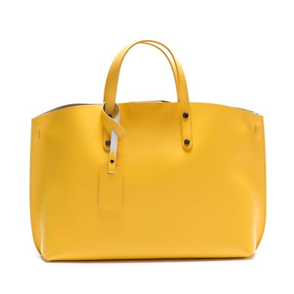 Żółta torebka skórzana Luisa Vannini 3034