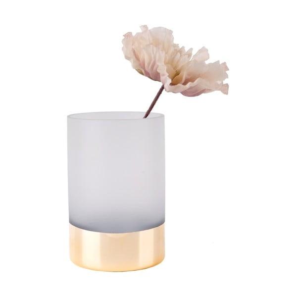 Biało-złoty wazon PT LIVING Glamour, wys. 15 cm