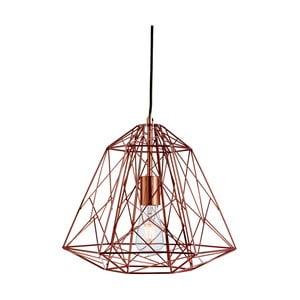 Lampa wisząca Searchlight Geometric Cage, miedziana