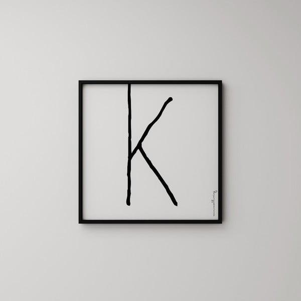 Plakat Litera K, 50x50 cm