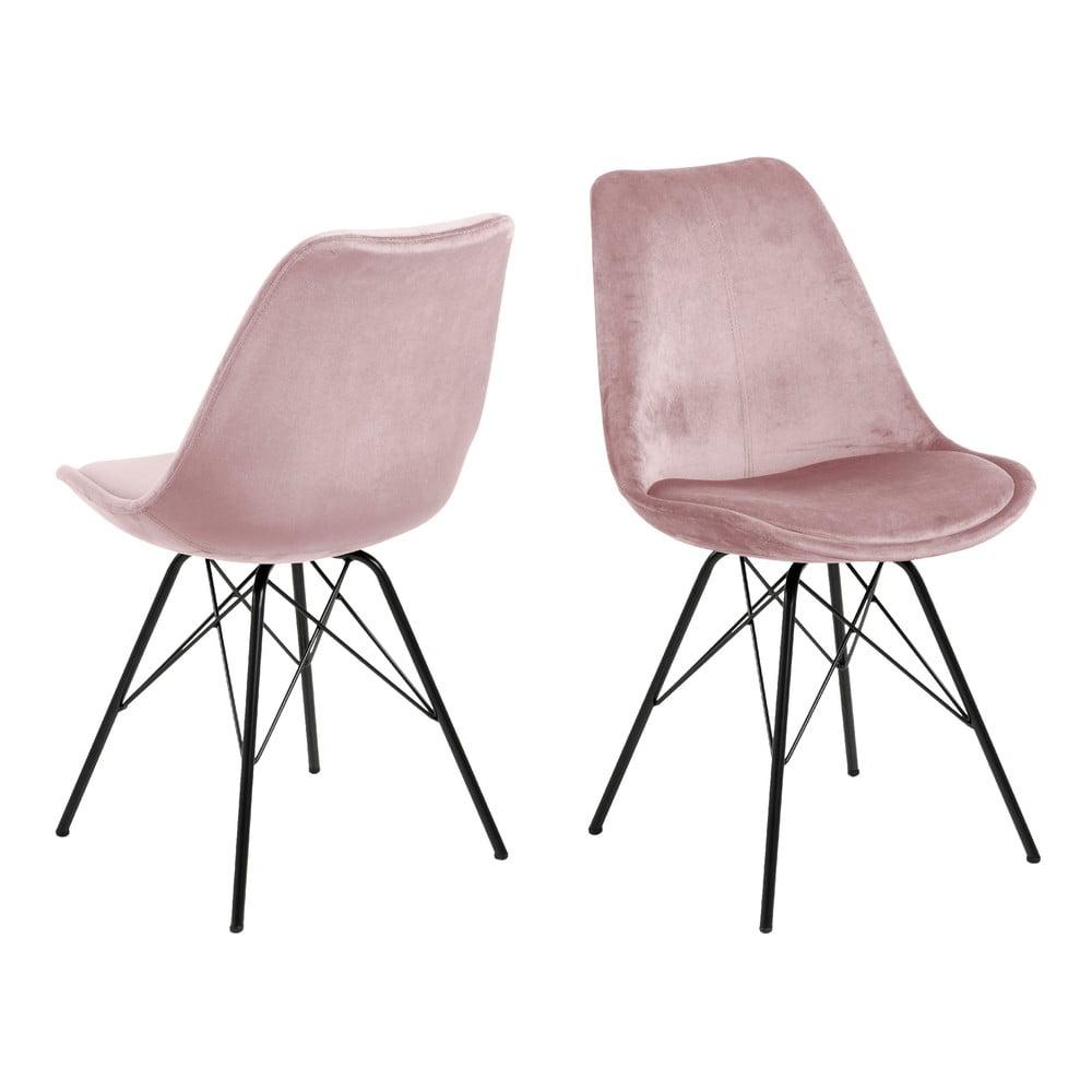 Różowe krzesło do jadalni Actona Eris