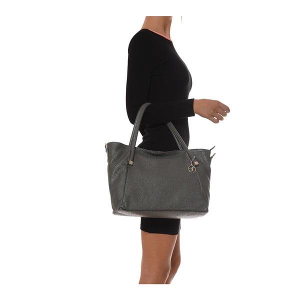 Skórzana torebka Carla Ferreri 1124 Grigio