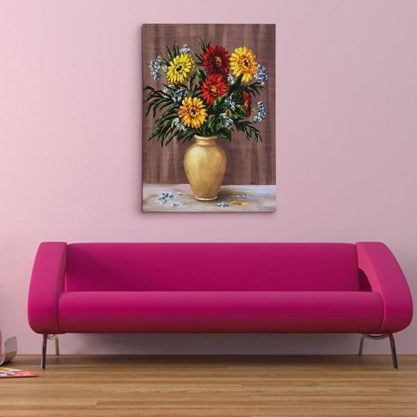 """Obraz na płótnie """"Kwiaty w wazonie"""", 50x70 cm"""