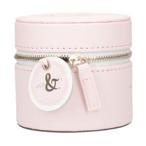 Różowy pojemnik na biżuterię Creative Tops Ava