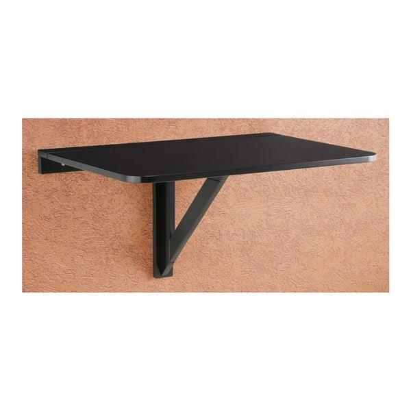 Czarny składany stolik ścienny Støraa Trento, 41x80cm