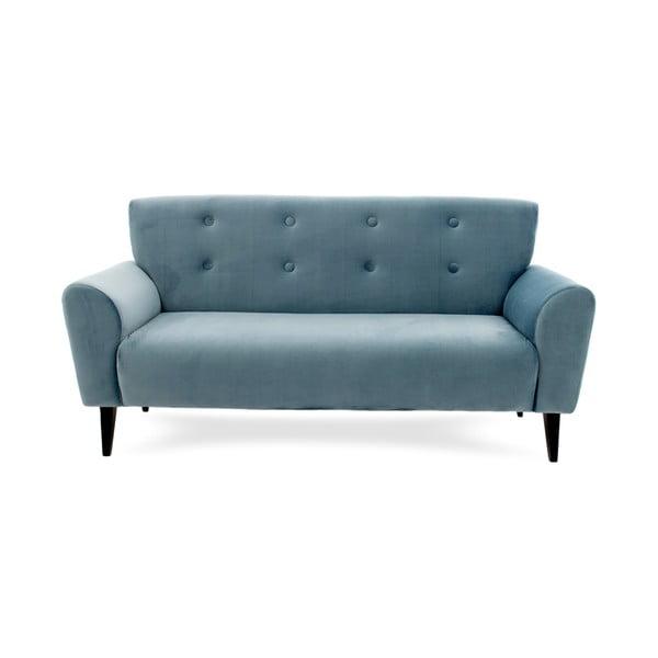 Jasnoniebieska sofa trzyosobowa Vivonita Klara