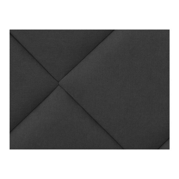 Ciemnoszary zagłówek łóżka Windsor & Co Sofas Superb, 140x120 cm