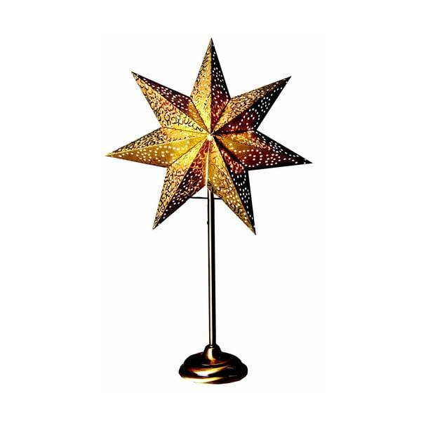 Świecąca gwiazda ze stojakiem Antique Gold, 55 cm