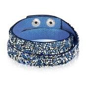 Niebiesko-czarna bransoletka ze szklanymi cyrkoniami Runaway, 42 cm