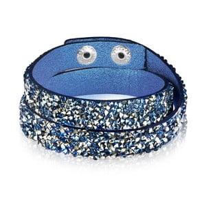 Niebiesko-czarna bransoletka ze szklanymi cyrkoniami Runaway, 34 cm