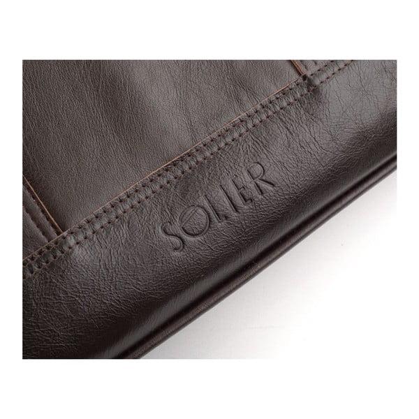 Męska torba skórzana Solier SL02 Brown