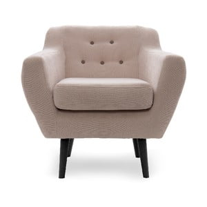 Fotel VIVONITA Kelly Beige, czarne nogi
