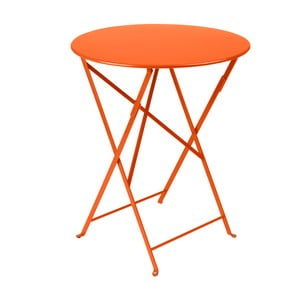 Pomarańczowy składany stół metalowy Fermob Bistro