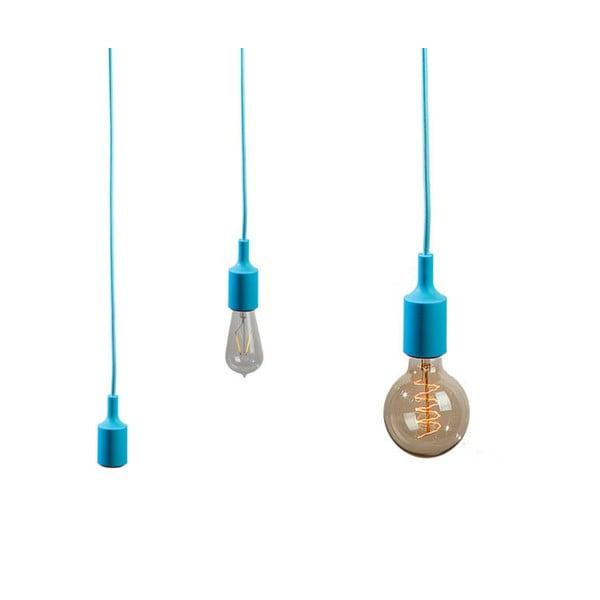 Materiałowy kabel z oprawką 1,5 m - błękitny