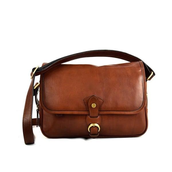 Skórzana torebka Santo Croce M6807 Brown