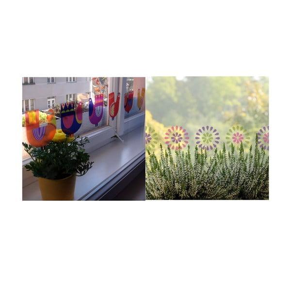 Naklejka wielokrotnego użytku Koguciki wiosną