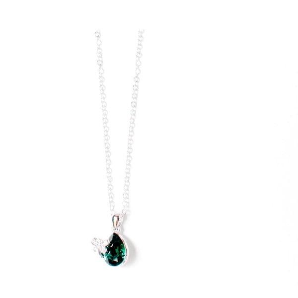 Naszyjnik Swarovski Elements Crystal Green