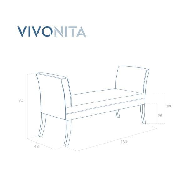 Niebieskoszara ławka Vivonita Selma