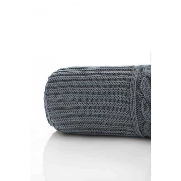 Pleciony koc Marvel Grey, 130x170 cm