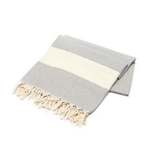 Ręcznik hammam American Stripes Light Grey, 100x180 cm