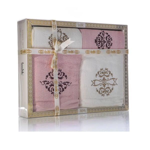 Zestaw 4 ręczników Crown V1, 50x100 cm + 70x150 cm