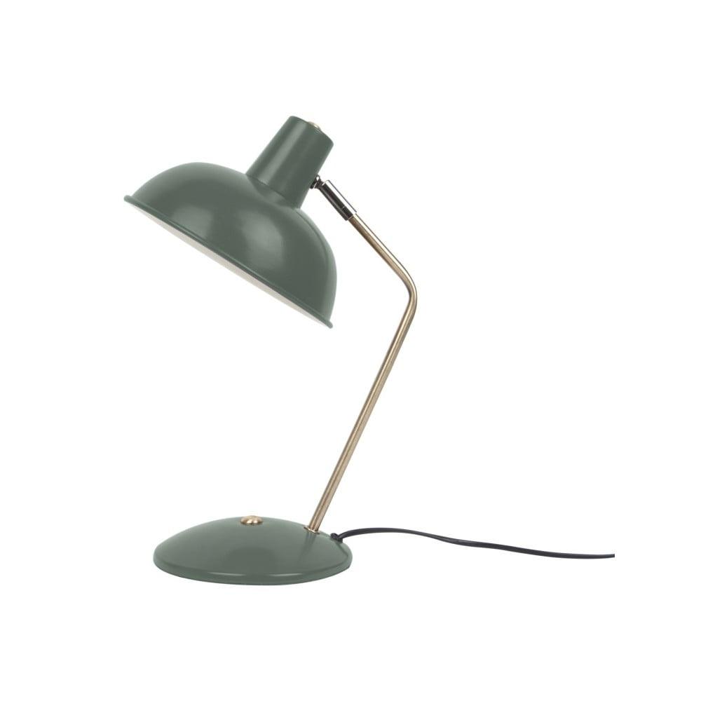 Ciemnozielona lampa stołowa Leitmotiv Hood