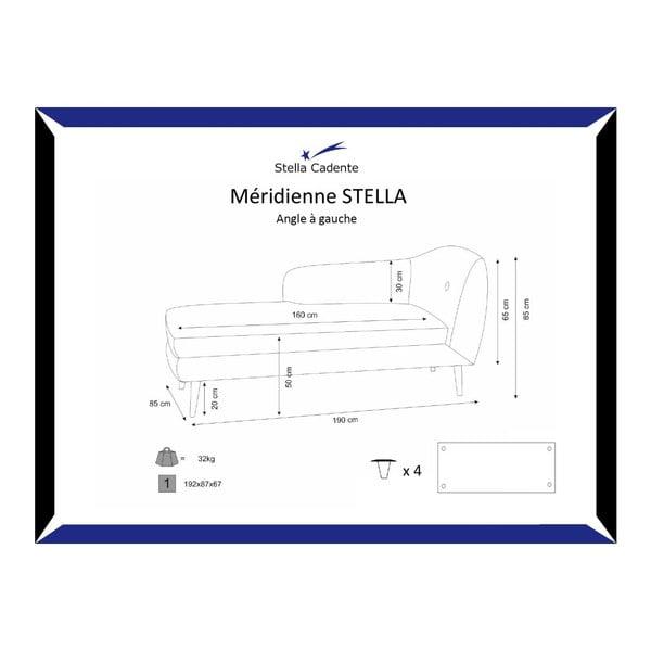 Ciemnoszary szezlong lewostronny Stella
