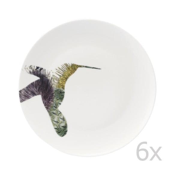 Zestaw 6 porcelanowych talerzy Flutter, 27 cm