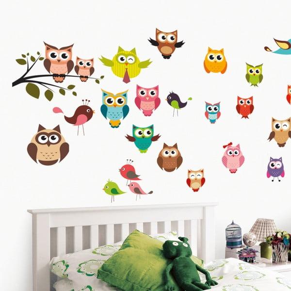 Naklejka dekoracyjna Funny Owls