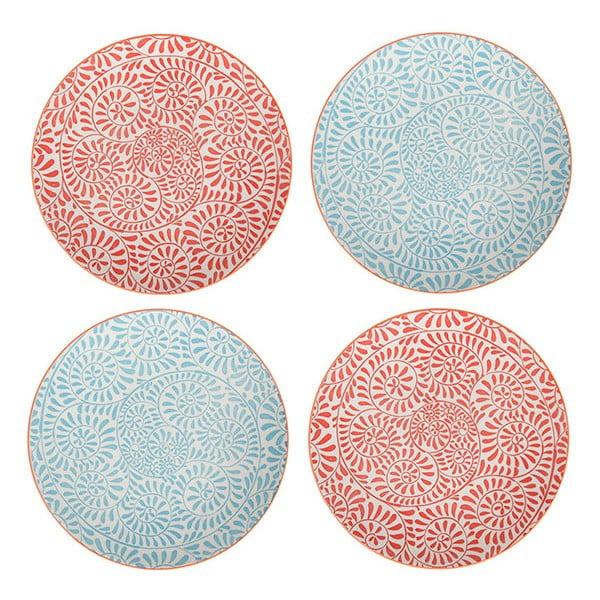 Zestaw 4 porcelanowych talerzy Summer, 20,5 cm