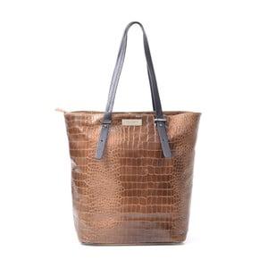 Skórzana torebka Irene, taupe (szarobrązowa)