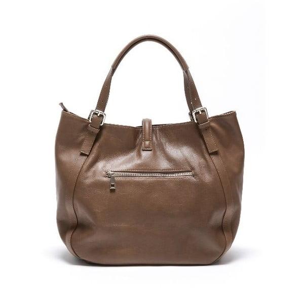 Skórzana torebka Carla Ferreri 2109 Fango